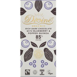 Organic 85 percent  Dark Chocolate with Quinoa & Blueberry - 80g