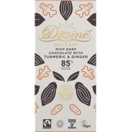 Organic 85 percent  Dark Chocolate with Turmeric & Ginger - 80g