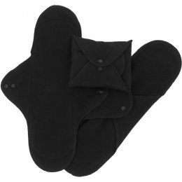 ImseVimse Black Reusable Sanitary Pads - Night - Pack of 3