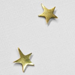 Made Brass Casted Star Stud Earrings