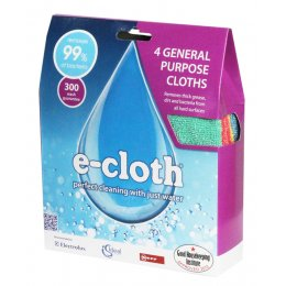 E-Cloth General Purpose Cloths Four Pack