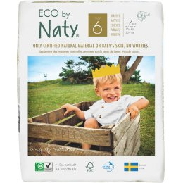 Eco By Naty Disposable Nappies Size 6 - Extra Large - Pack of 17