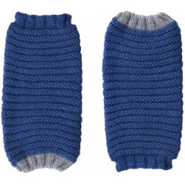 Ally Bee Eco Cashmerino Cuff Gloves - Blue & Grey
