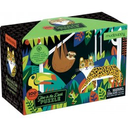 Mudpuppy Glow In The Dark Rainforest Jigsaw Puzzle - 100 Piece