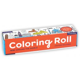 Mudpuppy Around the World Colouring Roll