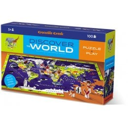 Crocodile Creek World Animals Discover Jigsaw Puzzle - 100 Piece