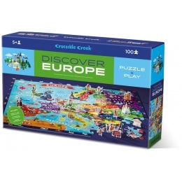 Crocodile Creek Europe Discover Jigsaw Puzzle - 100 Piece