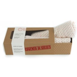 From Babies with Love A Box of Red Kisses Muslin Square Gift Set