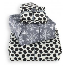 Wrag Wrap Reversible Reusable Gift Wrap Sheet - Spots & Flakes