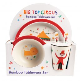 Big Top Circus Bamboo Tableware - 5 Piece
