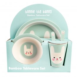 Bonnie the Bunny Bamboo Tableware - 5 Piece