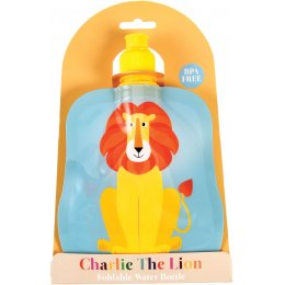 Charlie the Lion Reusable Folding Water Bottle - 350ml