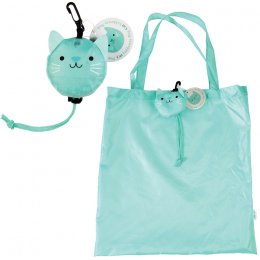 Cookie the Cat Foldaway Reusable Shopping Bag