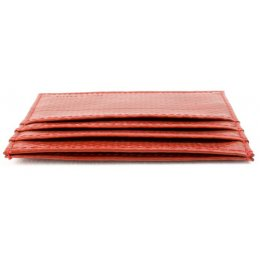 Elvis & Kresse Reclaimed Firehose Triple Card Holder - Red