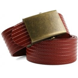 Elvis & Kresse Reclaimed Firehose Slider Belt - Red