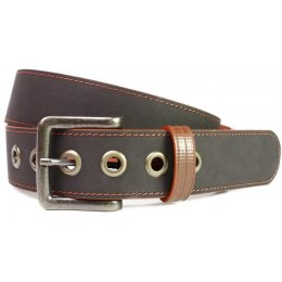 Elvis & Kresse Reclaimed Firehose Print Room Belt - Black