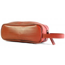 Elvis & Kresse Reclaimed Firehose Travel Case - Red