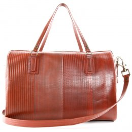 Elvis & Kresse Reclaimed Firehose Large Post Bag - Red