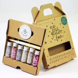 Six Piece Biodegradable Glitter Kit - Pinky