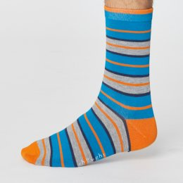 Thought Mens Rugby Stripe Bamboo Socks