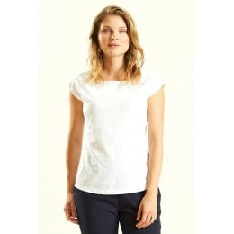 Nomads White Vest with Seam