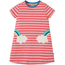Frugi Pink Stripe Paige Pocket Dress