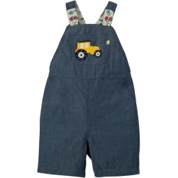 Frugi Chambray Tractor Rory Reversible Dungarees
