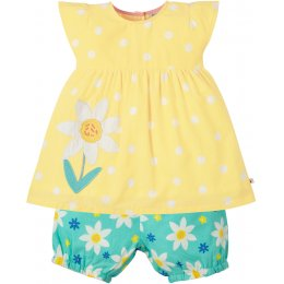Frugi Yellow Daisy Woven Waterfall Outfit