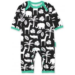 Toby Tiger Black Jungle Sleepsuit