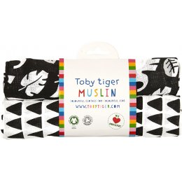 Toby Tiger Black Jungle Muslin Cloths