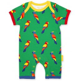 Toby Tiger Parrot Printed Romper
