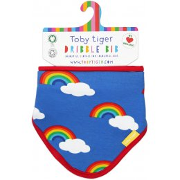 Toby Tiger Rainbow Printed Bib
