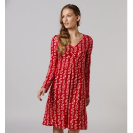 Mudd & Water Red Salsa Flowers Jewel Dress