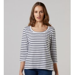 Mudd & Water Navy Stripe Skies the Limit Top