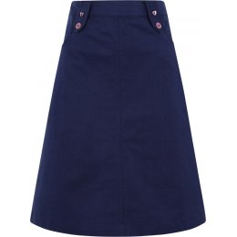 Mudd & Water Navy Lara Linen Skirt