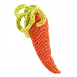 Fair Trade Crochet Cotton Carrot Rattle