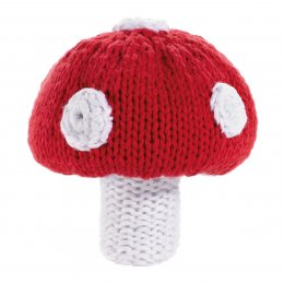 Fair Trade Crochet Cotton Toadstool Rattle