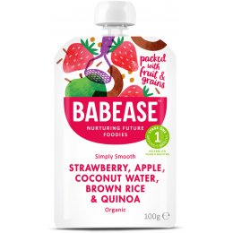 Babease Organic Strawberry, Apple & Coconut Water - 100g