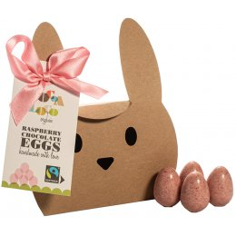 Cocoa Loco Raspberry Chocolate Mini Eggs - 140g