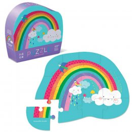 Crocodile Creek Shaped Box Rainbow Jigsaw Puzzle - 12 Piece