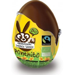 Ponchito Organic & Fairtrade Milk Chocolate Chocolate Surprise  Egg - 50g