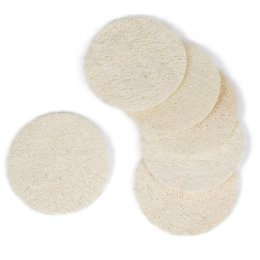 Natural Loofah Facial Discs - Pack of 6