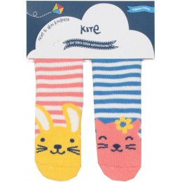 Kite Bunny & Kitten Grippy Socks - Pack of 2
