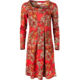 Nomads Holly Red Flared Pleat Dress