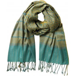 Nomads Citrine Check Woven Scarf