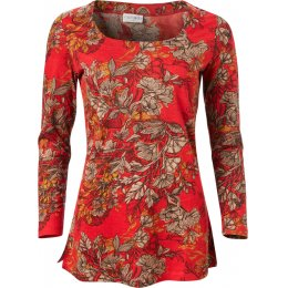 Nomads Holly Red Floral Long Sleeve Top