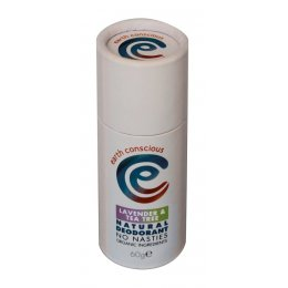 Earth Conscious Lavender & Tea Tree Natural Deodorant Stick - 60g