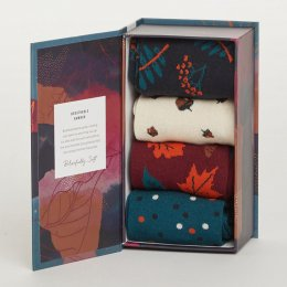 Thought Womens Autumn Leaves Bamboo Socks Gift Box