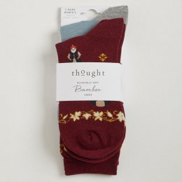 Thought Womens Regina Bamboo Socks - 2 Pairs