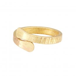People Tree Brass Hug Ring